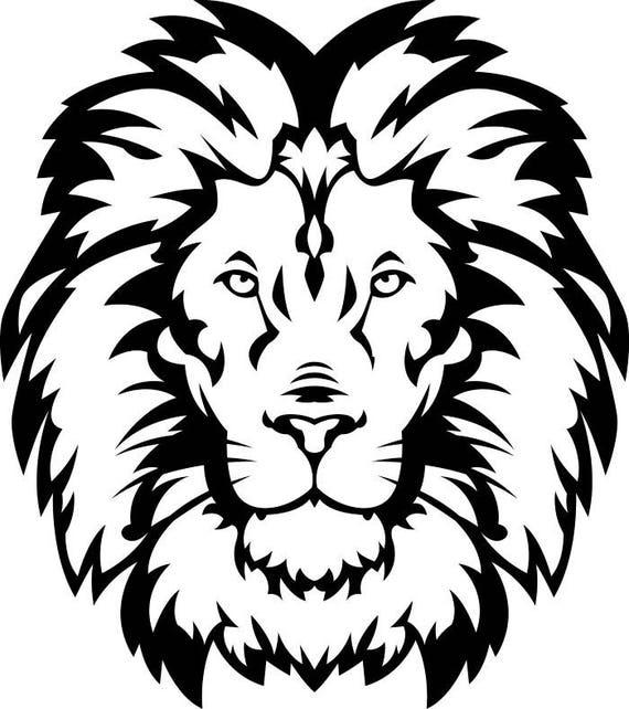 lion 15 head wild cat school mascot company logo svg eps rh etsy com School Lion Mascot Clip Art Lion Mascot Logo