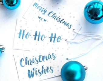 Christmas Tags, Christmas Gift Tags, Holiday Gift Tags, Gift Tag Set, Xmas Gift Tags, Watercolour Gift Tags, Xmas Tags, Watercolour Tags