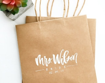 Custom Gift Bags, Personalized Gift Bags, Gift Bags, Birthday Party Bag, Wedding Bag, Party Favor, Party Supplies, Kraft Bags, Welcome Bags