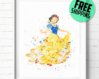 Snow White print, Disney print, Disney poster, Princess Snow White poster, Disney Princess print, Disney art print, wall art, kids decor 10