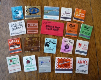 Vintage all San Diego California Matchbook Lot Of 20 Misc