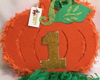 Halloween Pumpkin Pinata with Gold Number Sale!!
