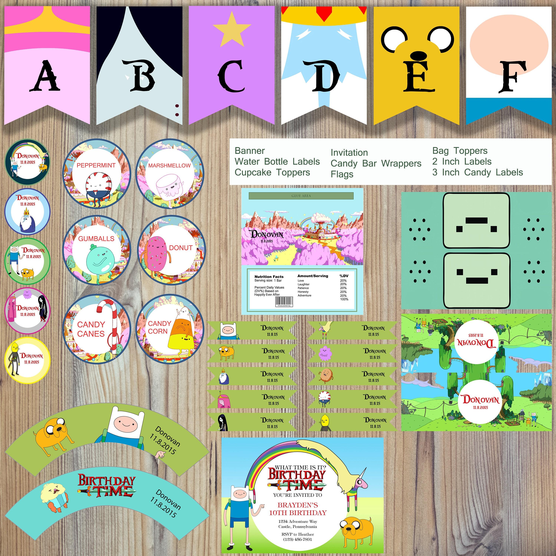 Instant Download Adventure Time Finn Jake Princess Bubblegum