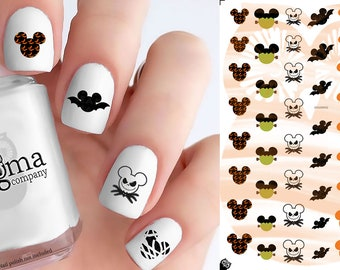 Halloween Mickey Nail Decals (Set of 56)