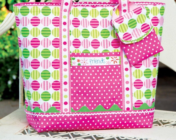 PDF Download of Reversible Tote Bag Purse DIY Sewing Pattern (#104)