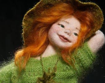 Witch Marta, Needle felted doll, Art Doll, Autor doll, Collectible doll, Interior doll, NIADA artist doll, Sculpture, OOAK doll