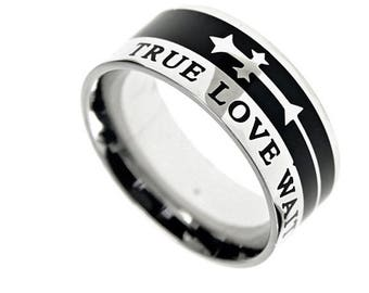 "A-Cross Ring ""True Love Waits"""
