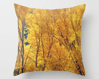 Throw Pillow Case, Colorado Gold,  Rustic Home Decor, Nature Photography by RDelean Designs