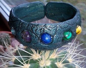 Colorful gemstone bracelet