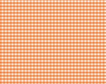 Riley Blake Designs, Small Gingham in Orange (C440 60)