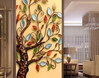 DIY 5D Diamond Painting Cross Stitch Round Diamond Embroidery Rich Tree Droplet Apple Diamond Mosaic for Home Decor