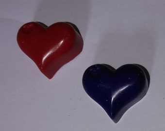 Multipack of 6 - Heart Shaped Wax Crayon