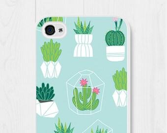 iPhone SE Case Cactus iPhone 7 Case Terrarium iPhone 8 Case Cactus Samsung Galaxy S7 Case Cactus iPhone 5c Case Mint iPhone 5 Case Cute