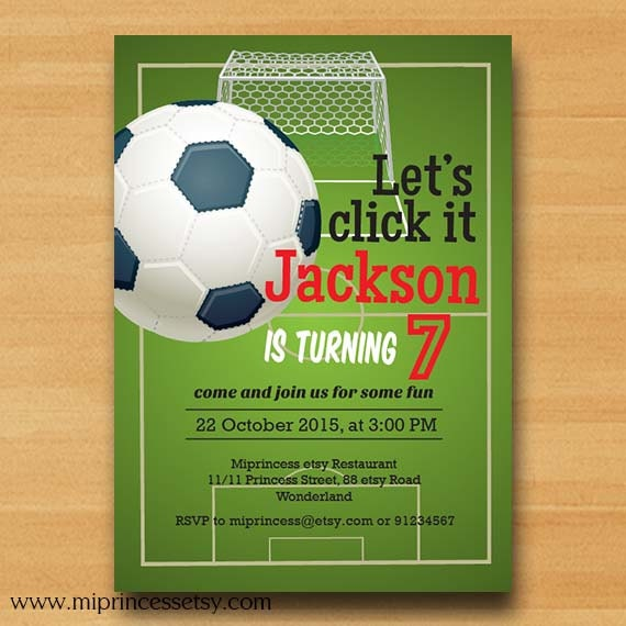 Football birthday soccer birthday invitation party boy kids zoom filmwisefo Image collections