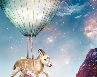 Donkey on a Journey | A5 print | Alykat Creative Stardust series