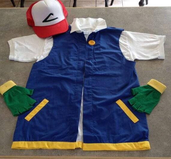 Adult LARGE- POKEMON Trainer - ASH Ketchum Costume Cosplay Jacket pSl3md