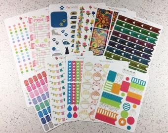 B003 - Planner Sticker Bundle - 11 Discontinued Sticker Sheets