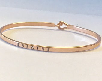 Inspired bangle bracelet ( breathe)