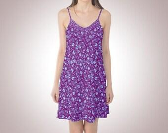 white blood cell satin slip dress