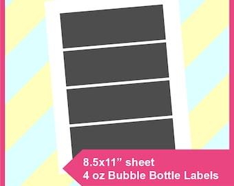 bubble bottle label template - label template etsy