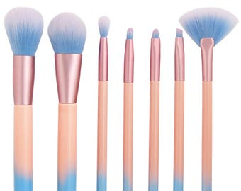 7pcs Makeup Brushes Set-Red Dieny
