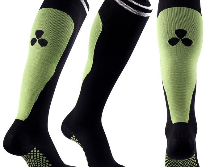 Samson® Green Compression Sport Socks Athletic Running Made in UK