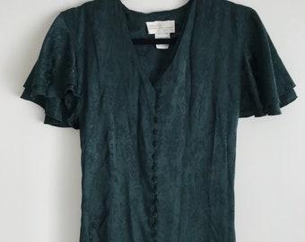 Forrest Green Button Up Dress