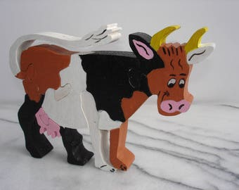 Farm animal puzzle: the cow