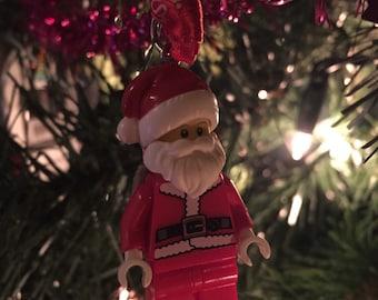 Lego Santa Claus Christmas Minifigure tree decoration (Also avaliable as a keychain / keyring)!