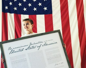 """Declaration of Independence- Print 24x36"""""""