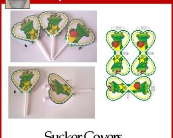 Frog Love Sucker Covers Valentine Printable