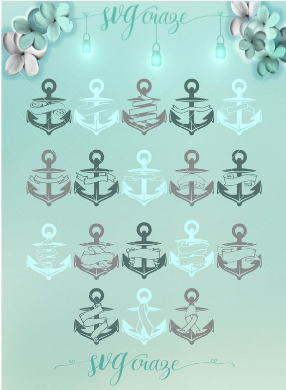 Anchor Banner Svg Bundle Banner Svg Anchor Bundle Nautical Svg
