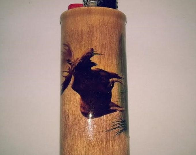 Moose BIC Lighter Case Holder Sleeve Cover