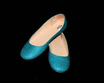 Wedding Shoes Tropical Blue Green Wedding Shoes Blue Shoes Green Flats Blue  Flat Shoes Bridal Shoes