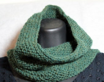 Forest hand knit neckwarmer / cowl