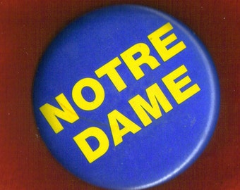 Notre Dame stadium button-pin