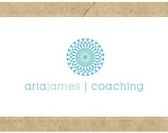 PreMade Logo - Vector Logo - PreDesigned Logo - ARIA Logo Design - Geometric Logo - Yoga Logo - Simple Logo - Modern Logo - Coaching Logo