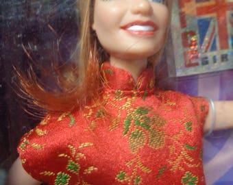 SPICE GIRLS, Geri Halliwell, Ginger Spice, Grrl Power, Cool Britannia, Cult MTV Fashion Doll Collectible, Galoob,Spice World Rock Tour