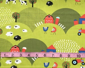 Fabric by the yard, 1/2 yard Certified Organic Cotton Fabric