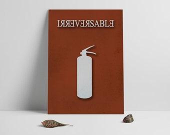 Irreversable-alternative Movie poster printable, Minimal film poster,Printables,Instant Download, Poster Printable, Alternative Film Art