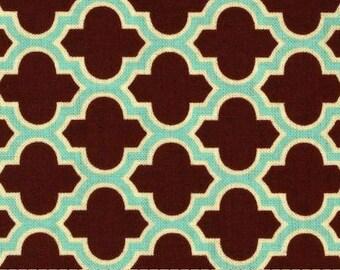 HALF YARD - Joel Dewberry Fabric - Lodge Lattice in Caramel, Aviary 2 - SALE