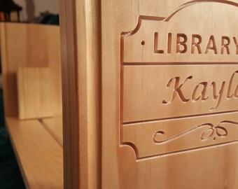 Little Wink Library Shelf: Personalized Kids Book Shelf, Baby Bookshelf by WinkKids, Kids Bookshelf, Baby Shower, Classroom Bookshelf