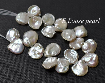 AAA cornflake pearl Freshwater Pearl Genuine Keshi pearl Top Drilled Keshi Necklace loose pearls White 11.5-12.5mm wedding PL4220