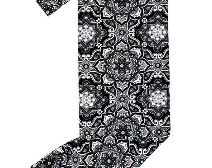 PLASTIC BAG ORGANIZER ~ Grey Floral Design ~ Storage ~ Holder ~ Bell Art Designs FBH0852