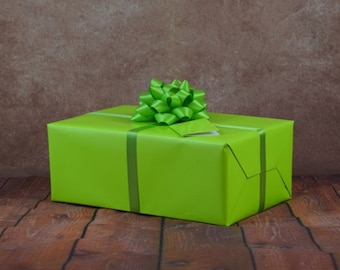Premium Collection Gift Wrap Kit - Lime Green