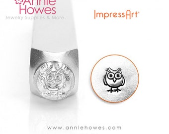 Impressart Metal Stamp  - Cute Hootie Owl Design