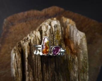 Watermelon Tourmaline Stack-able Set