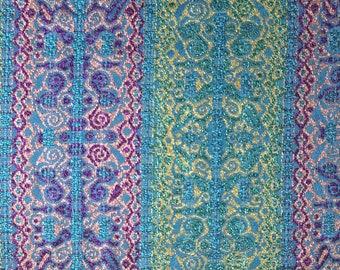Cotton and 20cm x 45cm - Haute Couture lurex Tweed