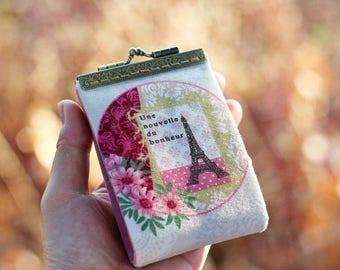 Business card holder / Eiffel Tower / Credit card case / Credit card organizer / Fold card case