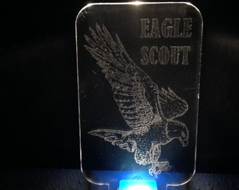 Nightlight LED - Scout Eagle - Laser Engraved